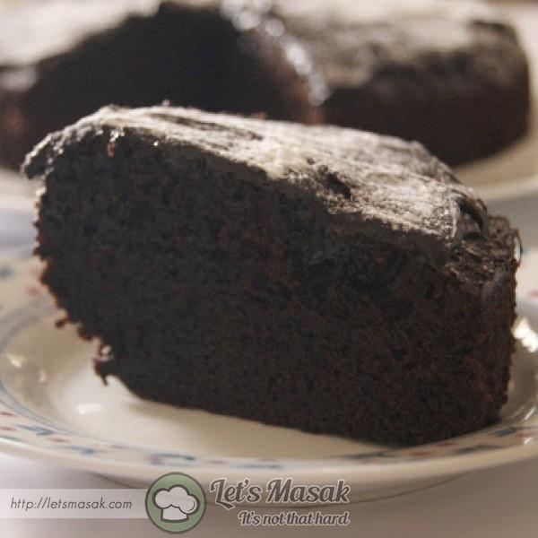 Gaul sebati . Tuang dalam loyang bersaiz 6 atau 7 inci. Kukus selama 30 - 35 atau sehingga bila dicucuk bahagian tengah masak.