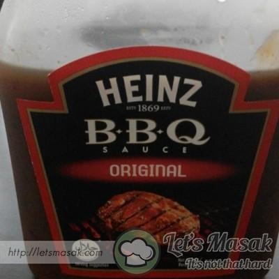 Akhir sekali masukkan BBQ sauce dan garam gaul sampai masak. siap!
