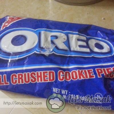 Nie la oreo crush punya packaging..tapi kalau takde oreo crush ni..guna biskut oreo biasa pun boleh.