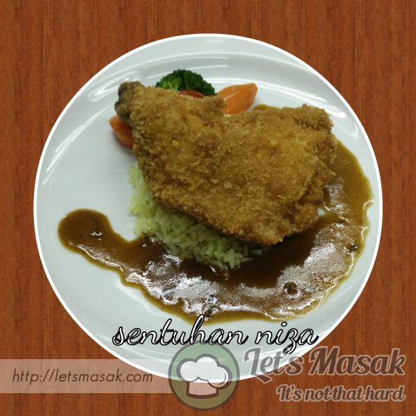 Chicken Chop, Butter Rice Dan Mushroom Sos