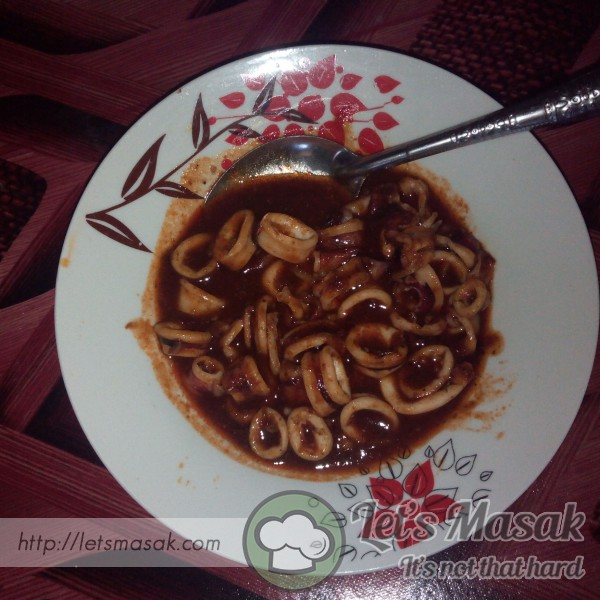 Sambal Sotong Simple