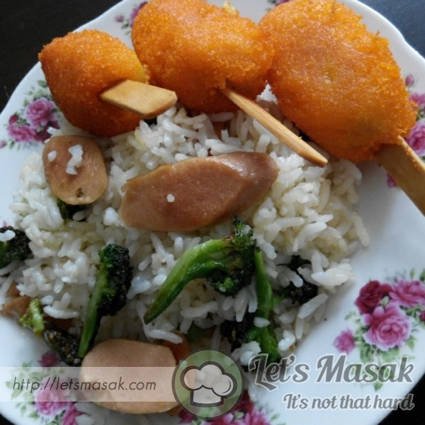 Butter Rice With Brocolli