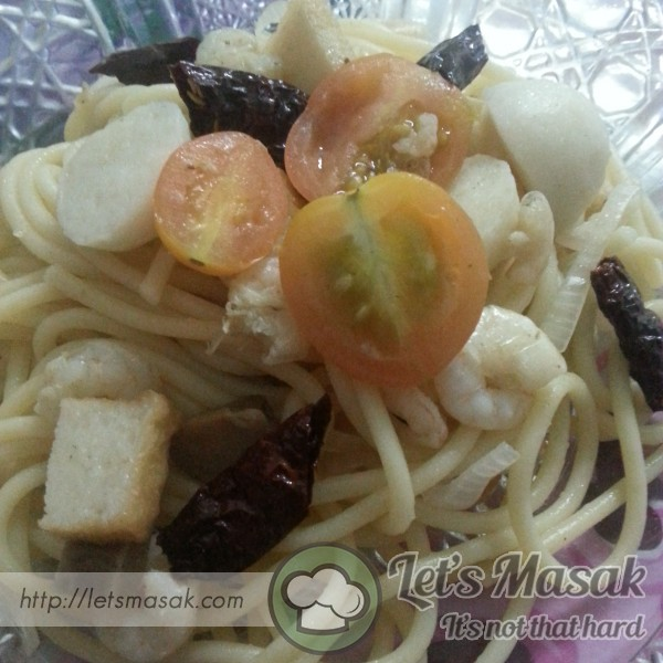 Spaghetti Ala-Ala Prawn Olio