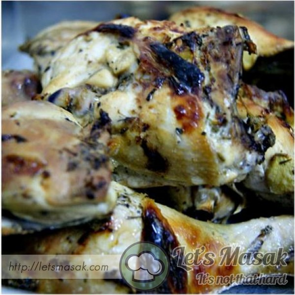 Mayonnaise Broiled Chicken