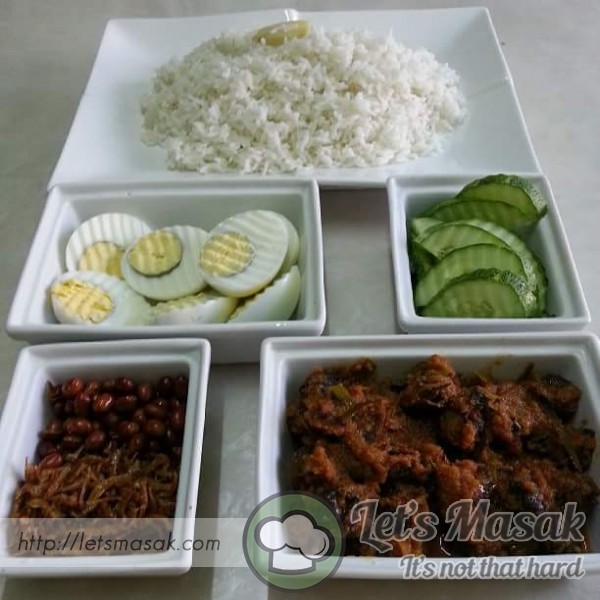 how to cook nasi lemak using rice cooker