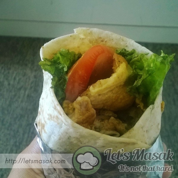 Wholemeal Tortilla Wrap Chicken Mayonis