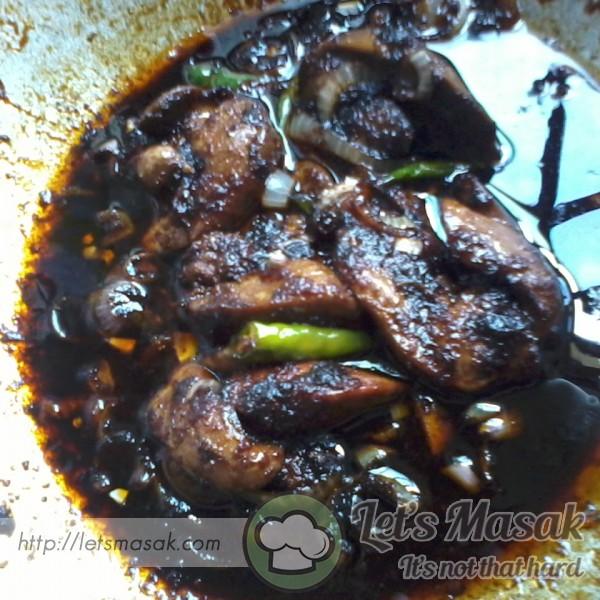 Hati Ayam Masak Kicap Simple