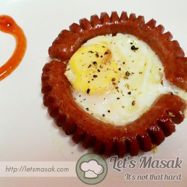 Sosej Dan Telur Sarapan Mudah