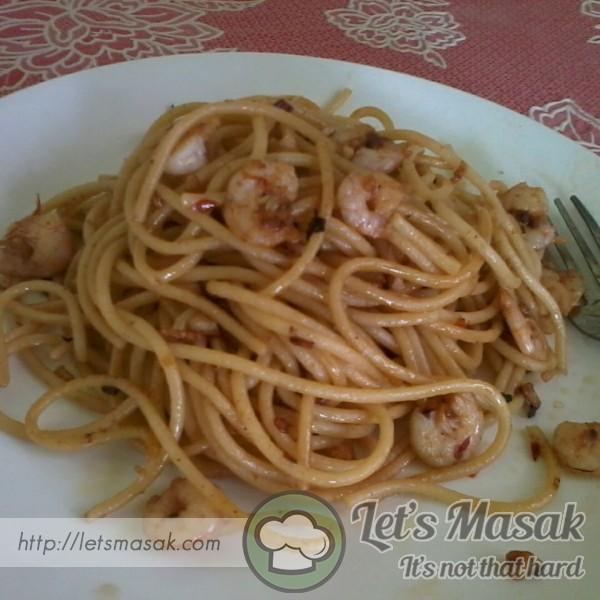Spaghetti Olio Udang