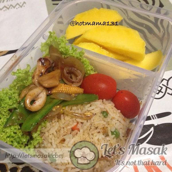 Bento Nasi Goreng Paprik Sotong