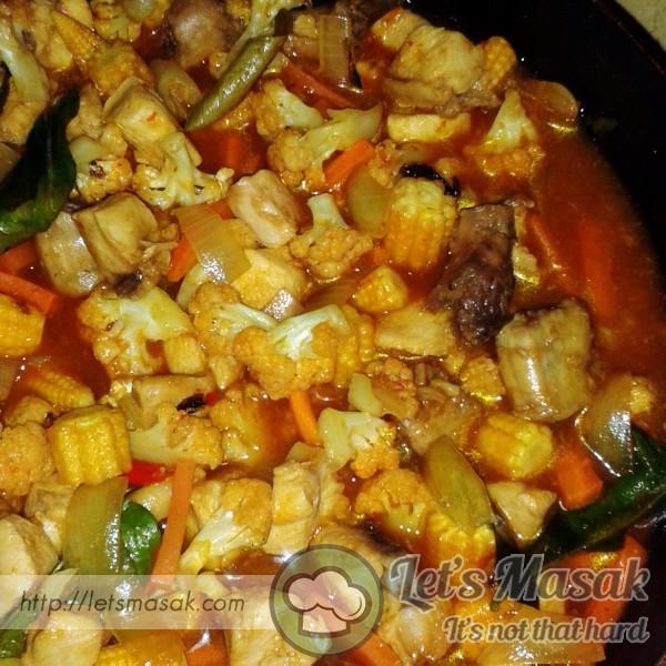 Paprik Ayam Sayur Mayo