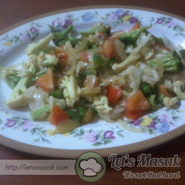 Brokoli Dan Capsicum