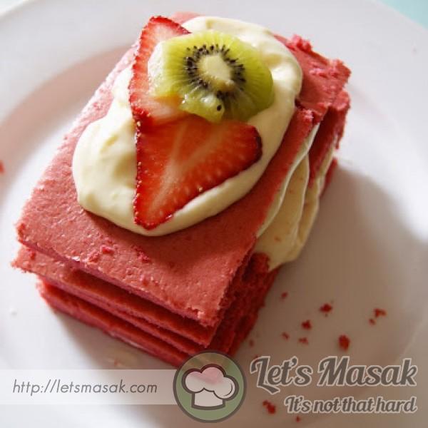 Strawberry Fruit Layer Cake