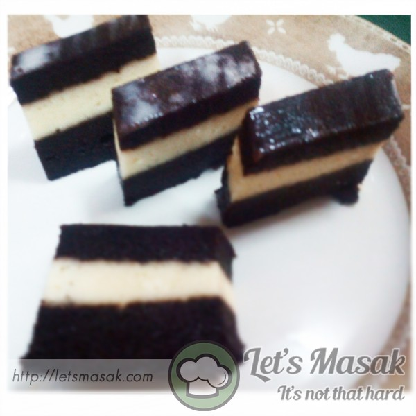 Kek Lapis Cheese Chocolate Kukus