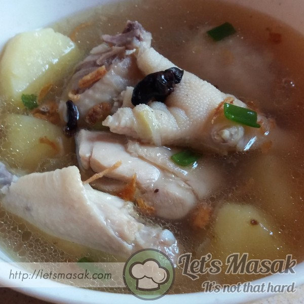 Sup Ayam Ringkas