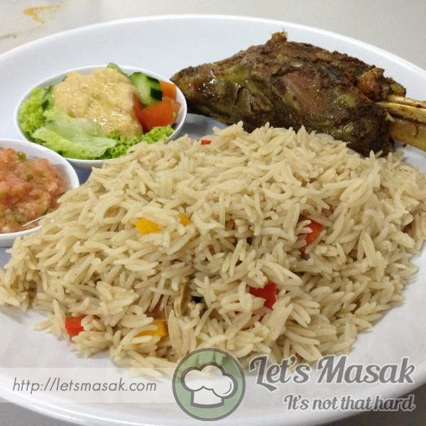 Nasi Arab Kambing Dan Hummus
