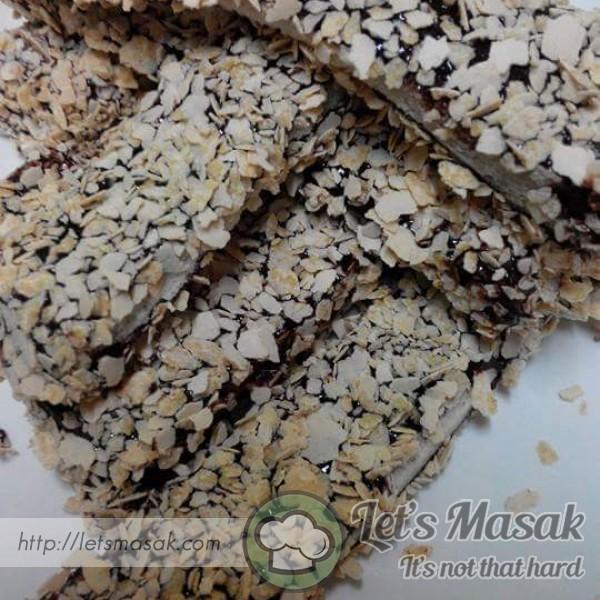 Jejari Roti Coklat Celup Nestum