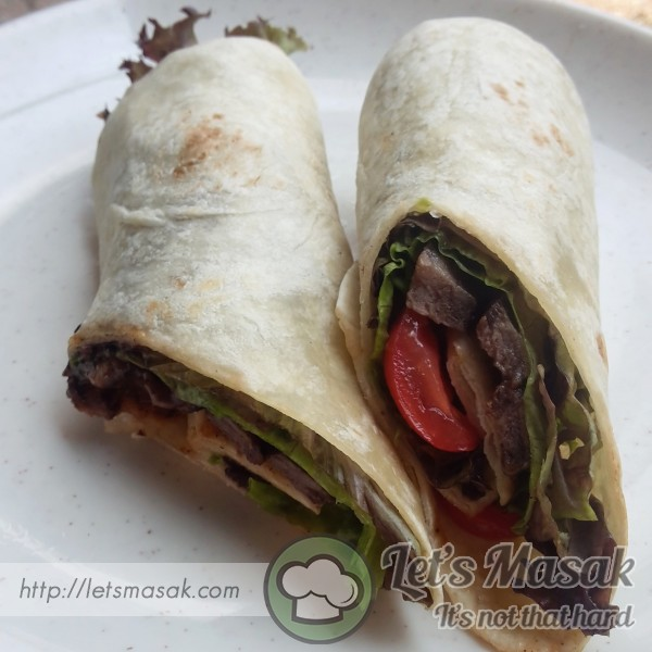 Grilled Lamb Wrap