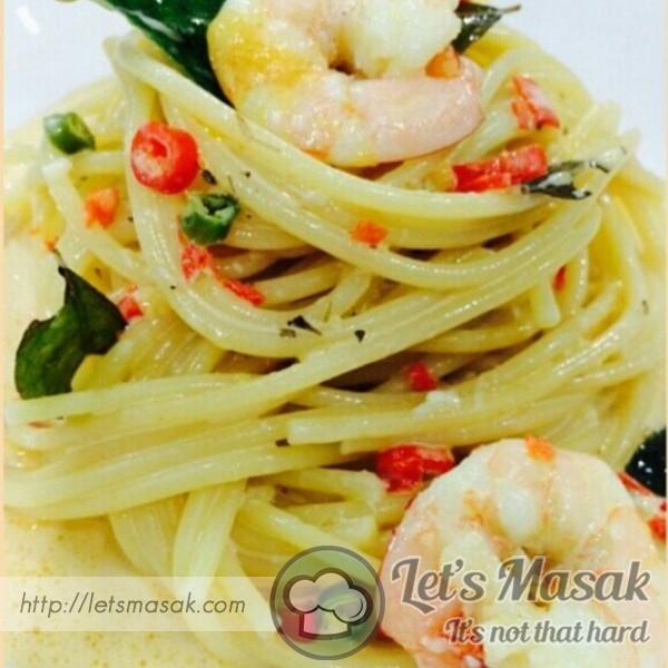 Spaghetti Creamy Butter Prawn