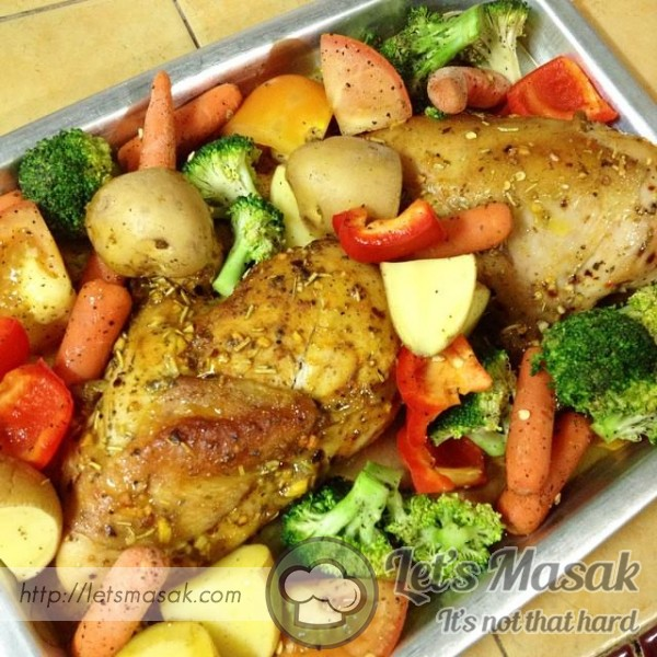 Grilled Chicken With Veggies (Eat Clean) (Healthy Food)