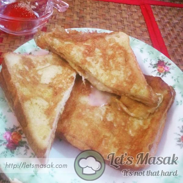 Roti Bakar Telur Manis Cheese