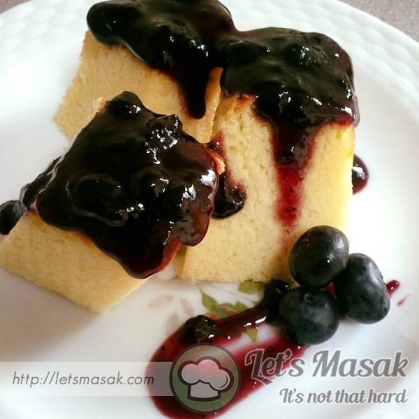 Blueberry Cheese Spongecake