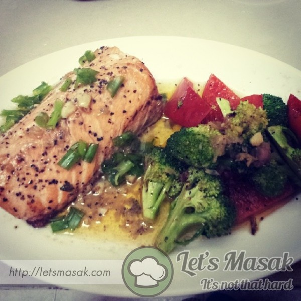 Grill Salmon With Lemon Butter Sauce