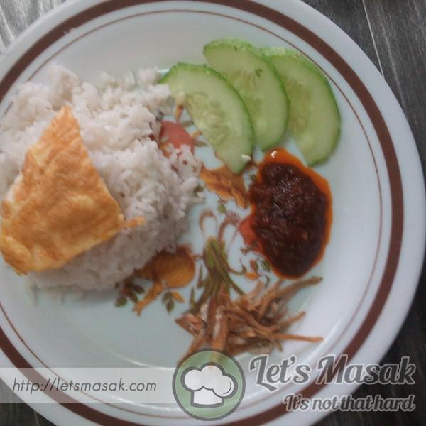 Nasi Lemak & Sambal Ikan Bilis.