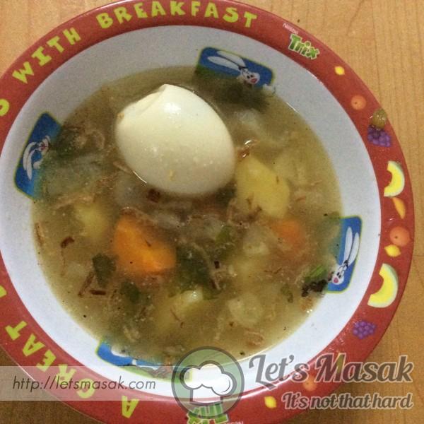 Sup Sayur Bersama Telur