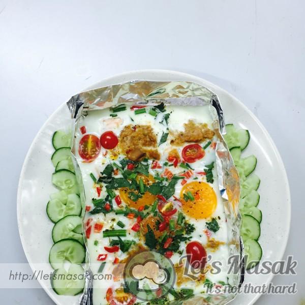 Telur Bakar Dengan Tuna