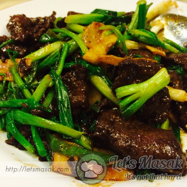 Beef With Ginger And Spring Onion Recipe | LetsMasak