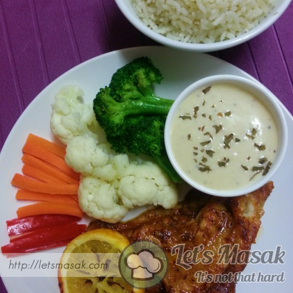 Grilled Dory With Garlic Sauce