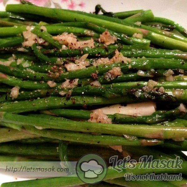 Asparagus Goreng Ikan Masin