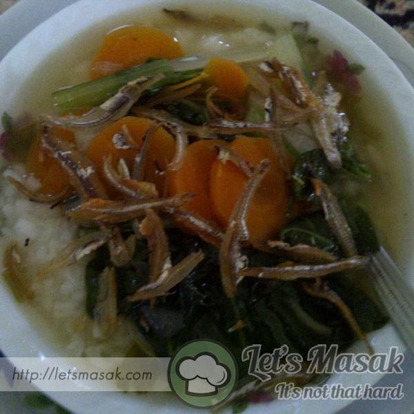 Sup Sawi+Carrot Dgn Bubur Nasi