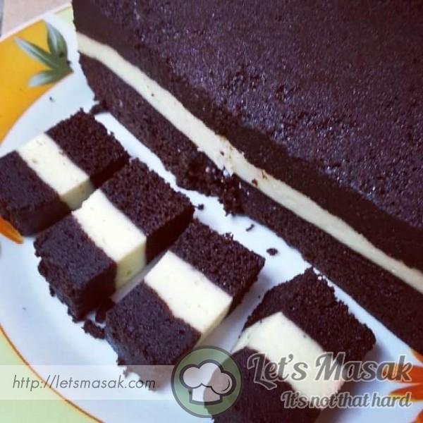 Kek Coklat Lapis Keju
