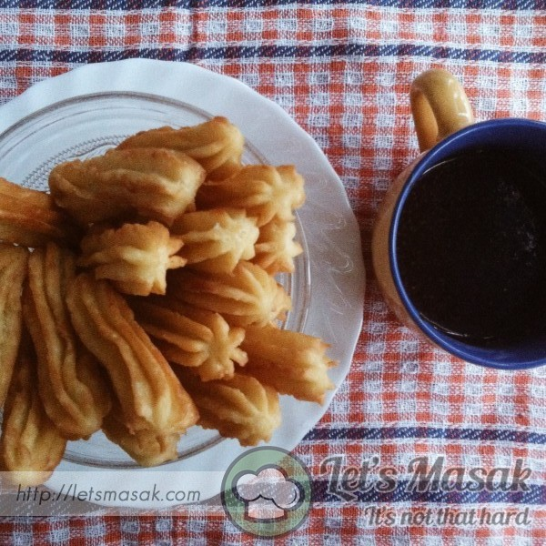 Churros And Homemade Chocolate Dipping