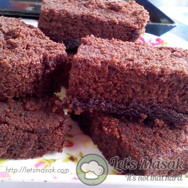 Kek Coklat Mudah Campur