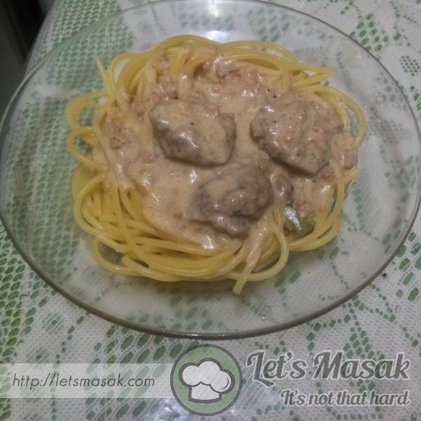 Spaghetti Carbonara Versi Malay