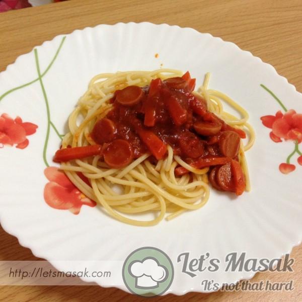 Spaghetti Simple Dan Lazat