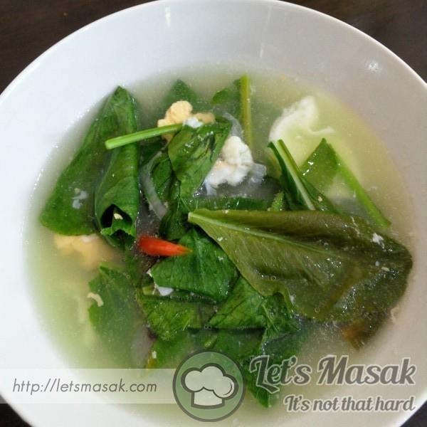 Sup Sawi Telur