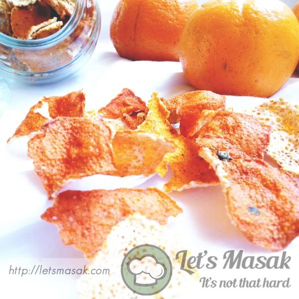 Kulit Mandarin Oren Kering