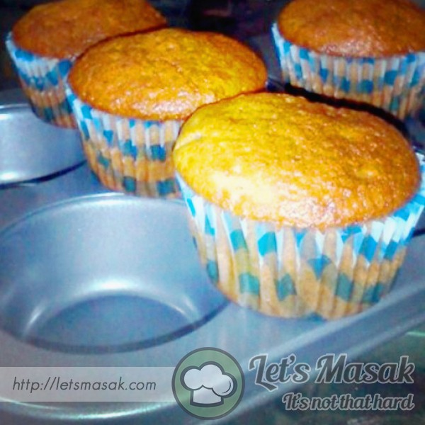 Resepi Muffin Pisang Gebu