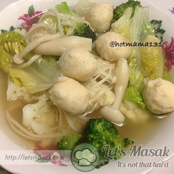 Sup Sayur Bebola Ayam