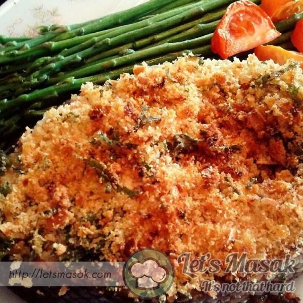 Baked Dijon Salmon Recipe | LetsMasak