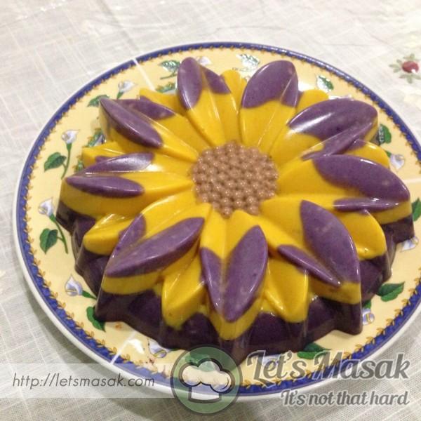 Puding Roti Bunga Matahari (Tanpa Telur)