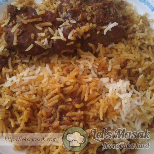 Nasi Briyani Daging
