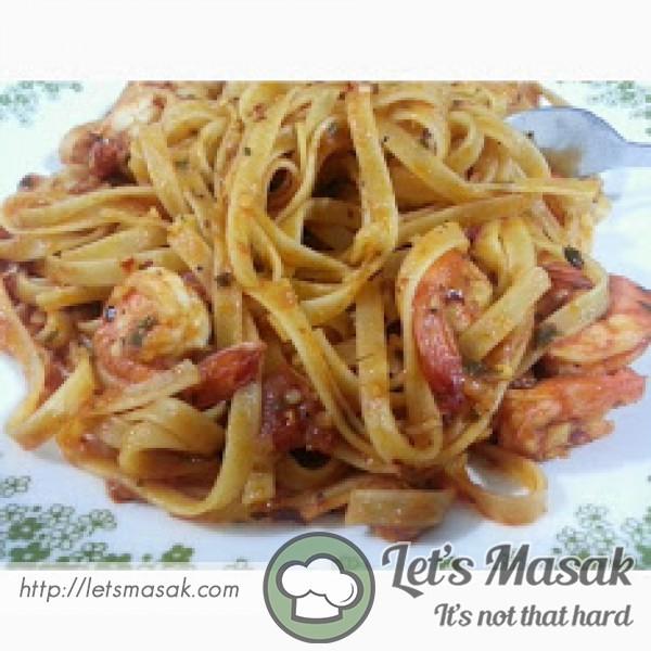 Quick Spicy Pasta With Shrimp