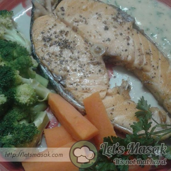 Grill Salmon With Butter Sauce