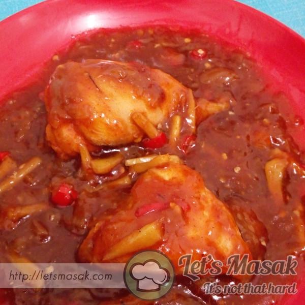 Ayam Masak Sos Halia