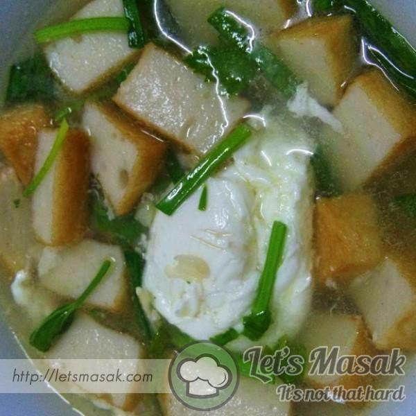 Sup Telur Dan Fishcake
